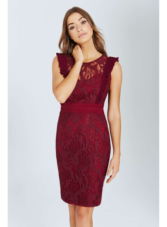 ce91d23b93f Grey Lace Bodycon Dress - from Little Mistress UK