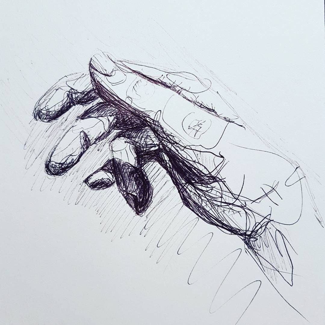 First Time Ive Ever Tried Drawing Hands This Evening Hard