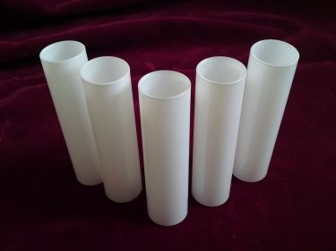 Glass candle tube sleeve cover in white 130mm x 29mm stuff to glass candle tube sleeve cover in white x mozeypictures Images