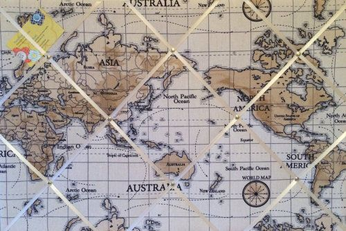 Large XCm Fryetts Atlas World Map Vintage Nautical Hand