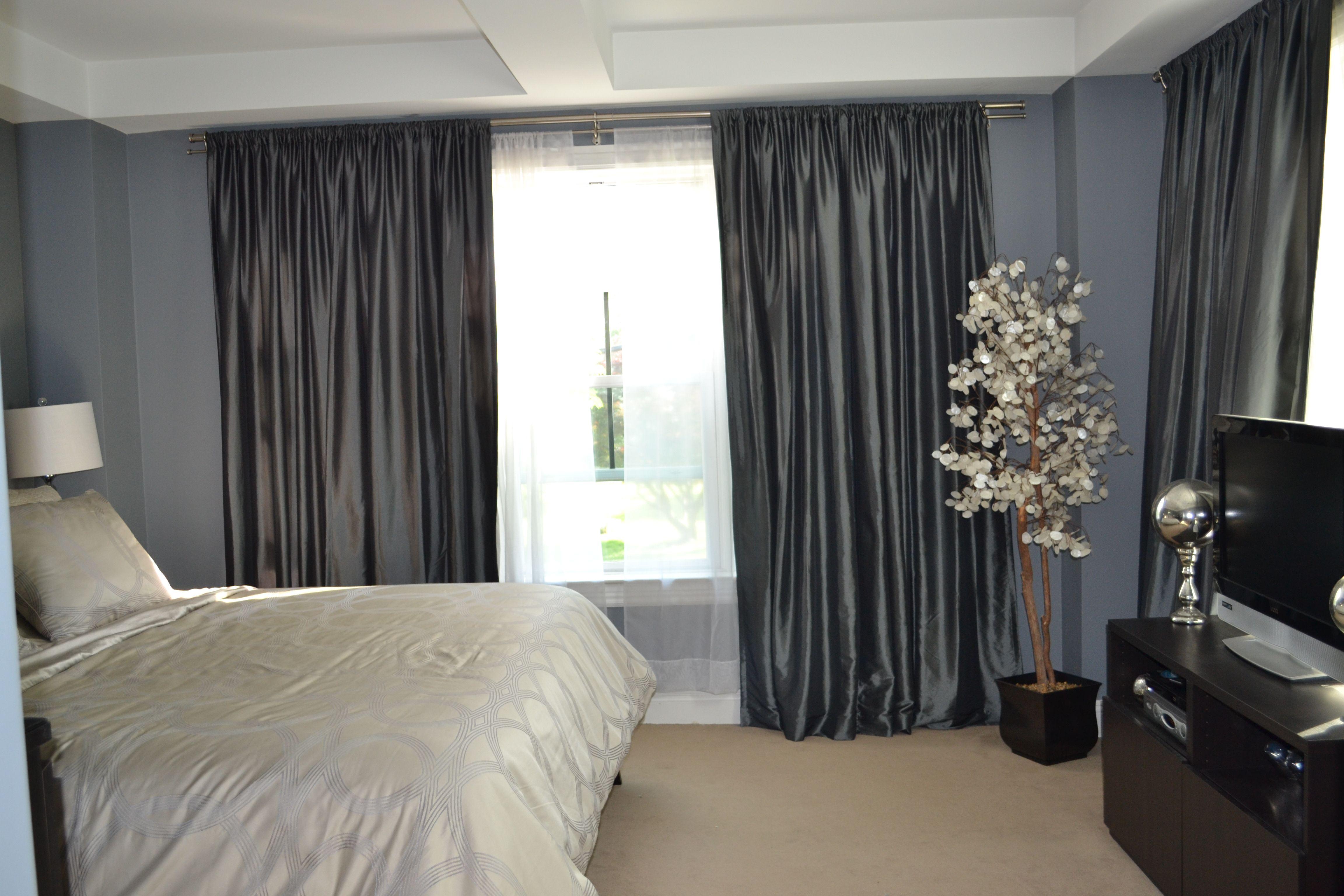 Benjamin Moore Aura Deep Silver Bedroom Apartment Decor
