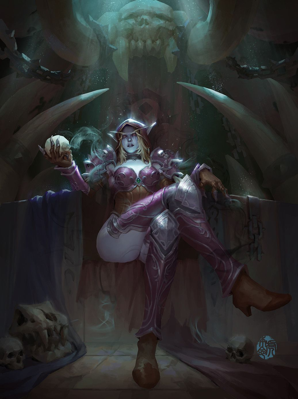 Artstation Sylvanas Jinhao Yang Warcraft Art Warcraft