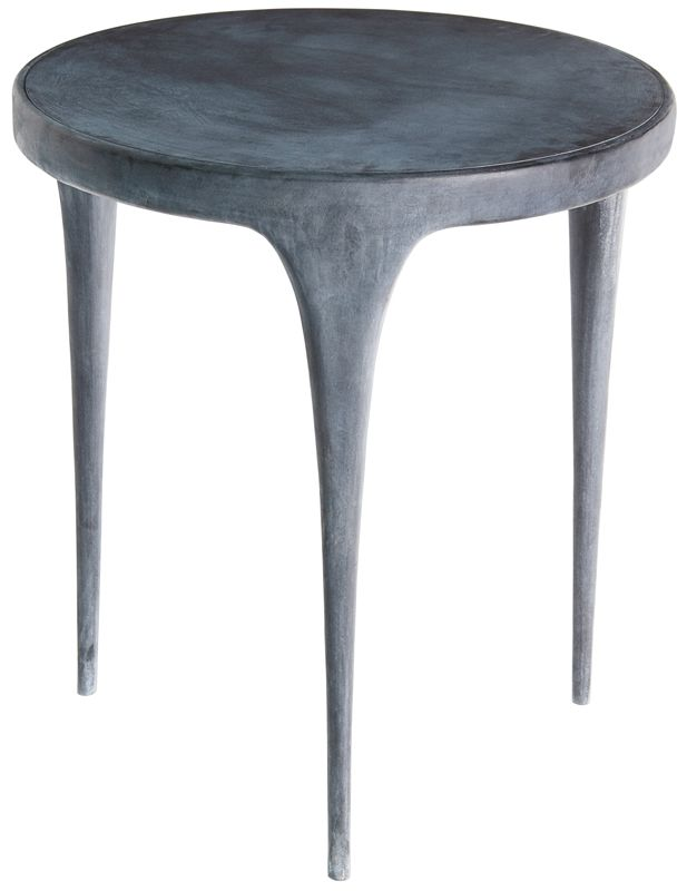 Reeves Design Side Table Of Zinc Plated Sand Cast Aluminum