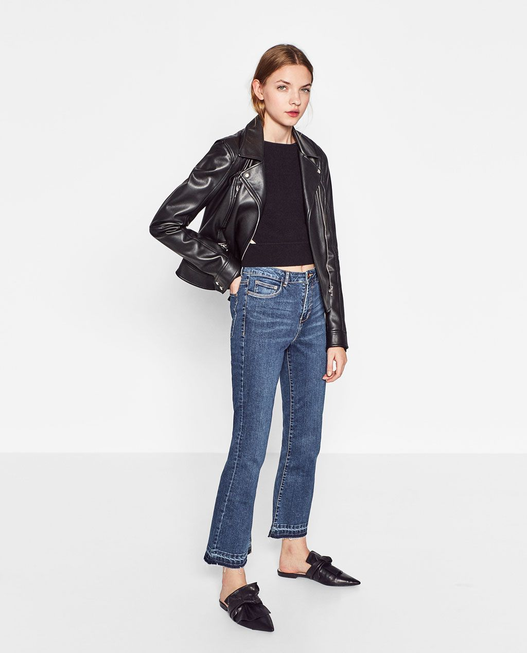 726d4acc MINI FLARE JEANS-View all-JEANS-WOMAN | ZARA United States | My ...