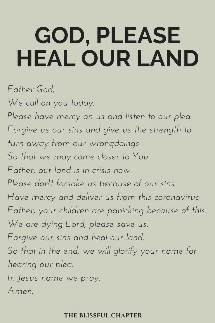 Bible Verse About Healing Land