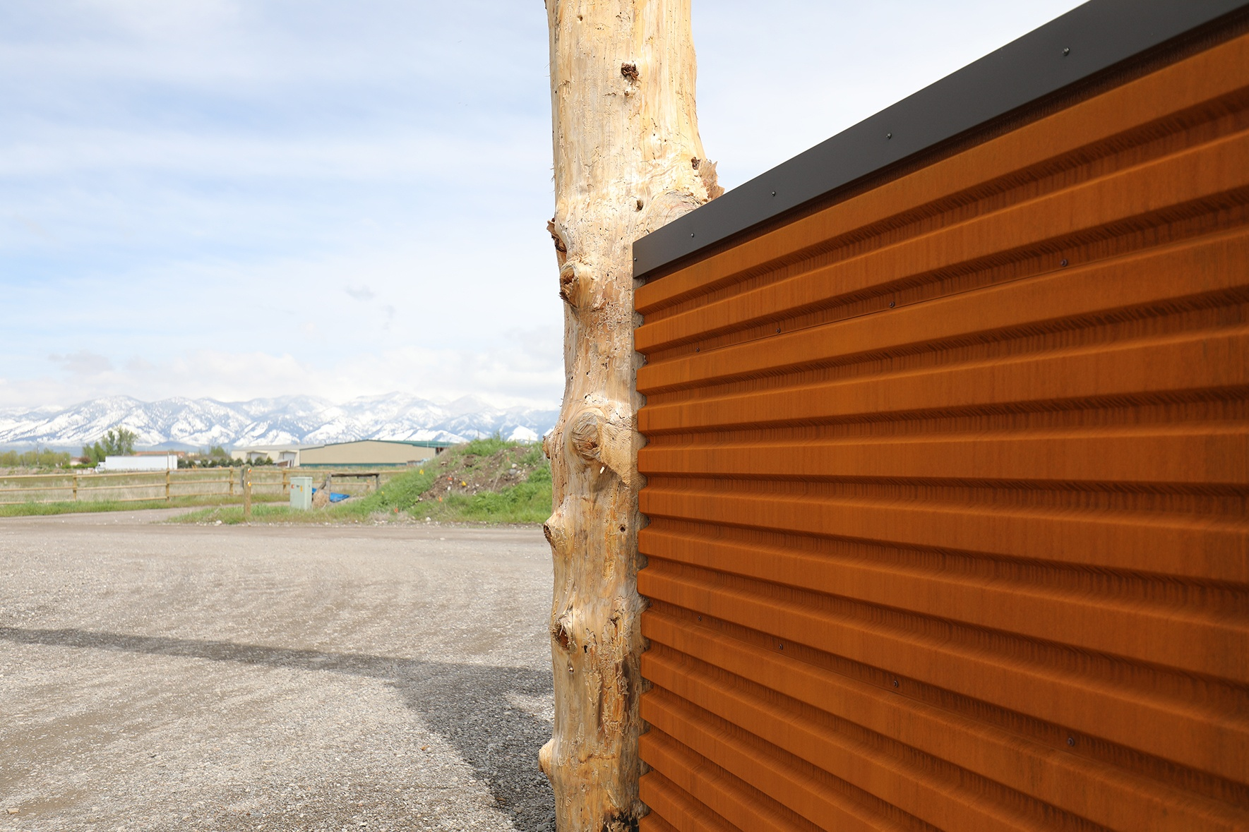 Metal Siding Panels Box Rib Pictures Google Search With Images Metal Siding Steel Fence Corten Steel