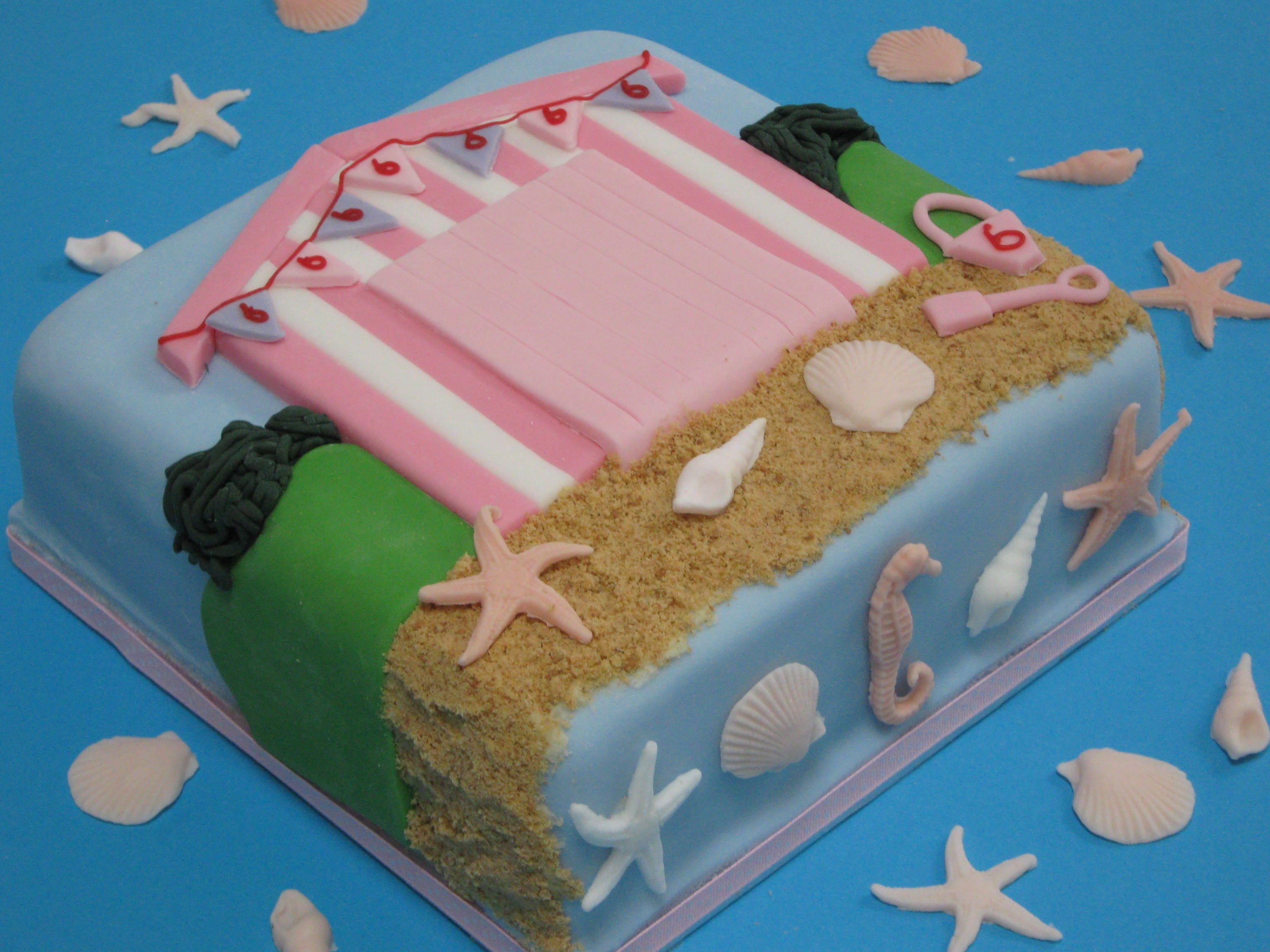 Beach hut cake beach cakes pinterest beaches cakes for Beach hut design ideas