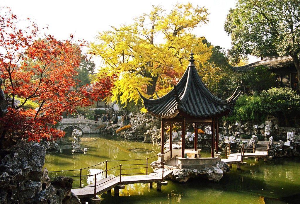 China Gardens Lion Forest Garden In Suzhou City Jiangsu 640 x 480