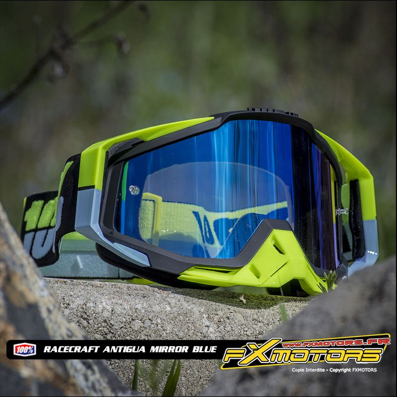 masque 100 cross racecraft antigua ecran mirror blue. Black Bedroom Furniture Sets. Home Design Ideas