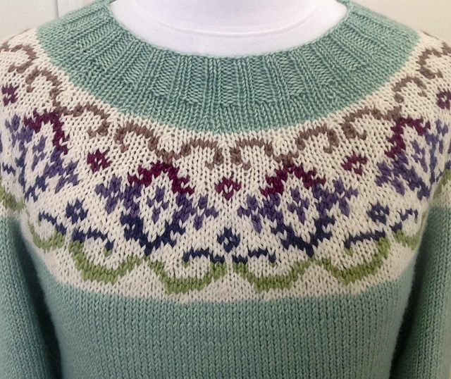 Ravelry: Kaleido-Yoke Sweater pattern by Suz Ryan...love the colurs in this classic knit!