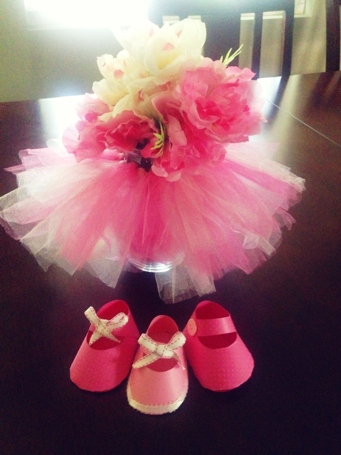 Amazing Tutu Vase Centerpiece For A Baby Shower.