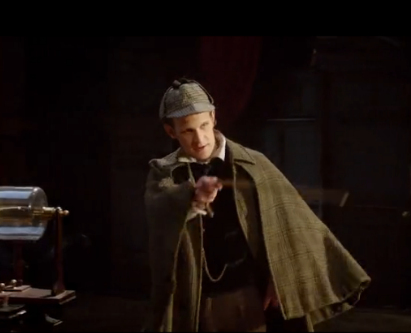 """Did he leave his name?"" ""Sir, it's Sherlock Holmes!"" MOFFAT, this is not the cross-over we wanted!!"