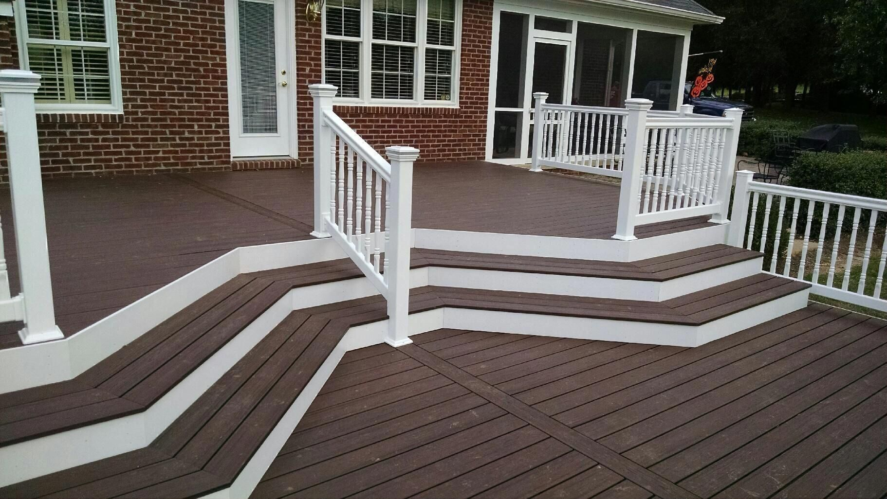 composite decking is a great investment choose from azek on steps in discovering the right covered deck ideas id=59552