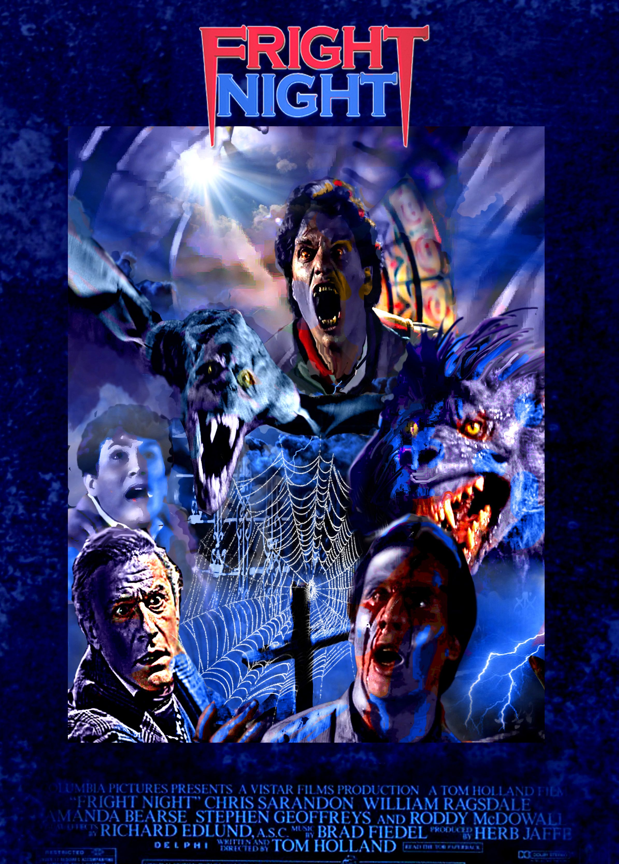Fright Night Poster By Federico Alain With Images Horror
