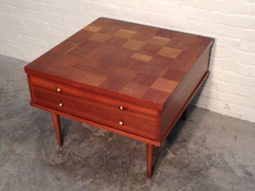 Mid-Century Danish Modern End Table W/Drawer / Lamp Table ...