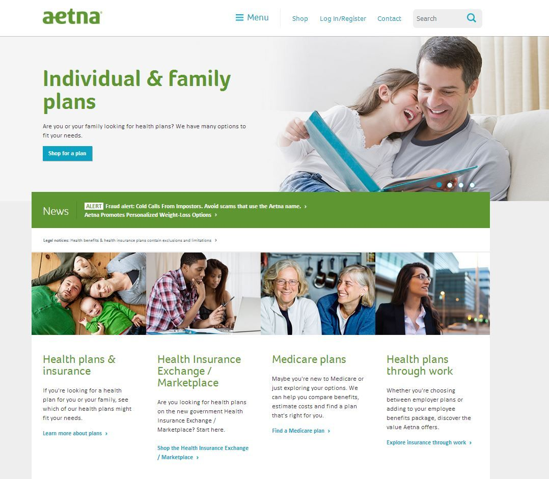 Health plan, Insurance website