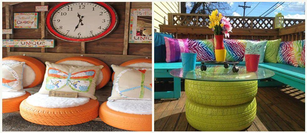 Originales y divertidas ideas para decorar con neum ticos for Ideas originales para decorar