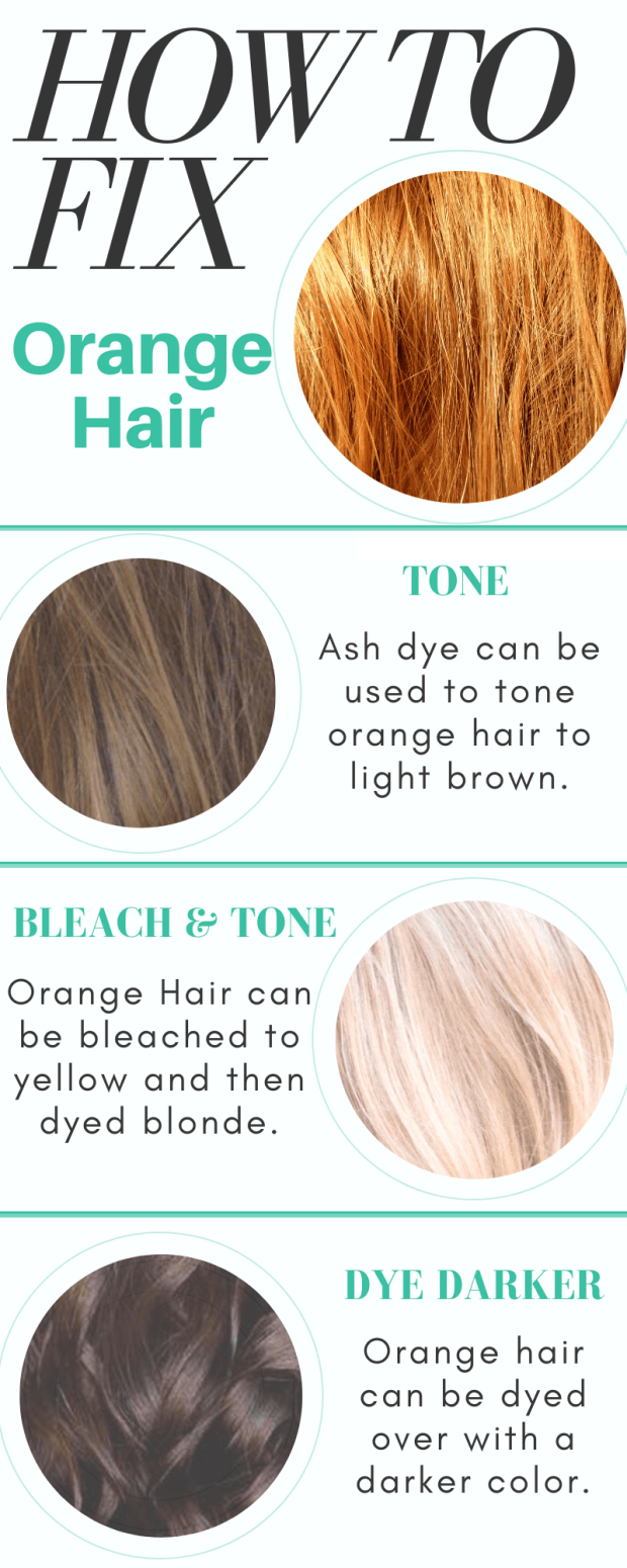 Color Correction How To Fix Orange Hair Hair Color Orange Colored Hair Tips Bleached Hair