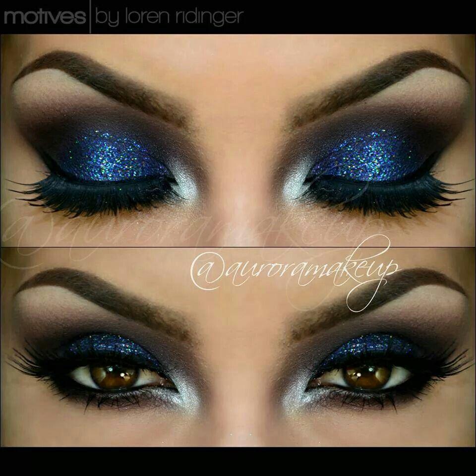Electronic Blue makeup, Eye makeup, Smokey eye makeup