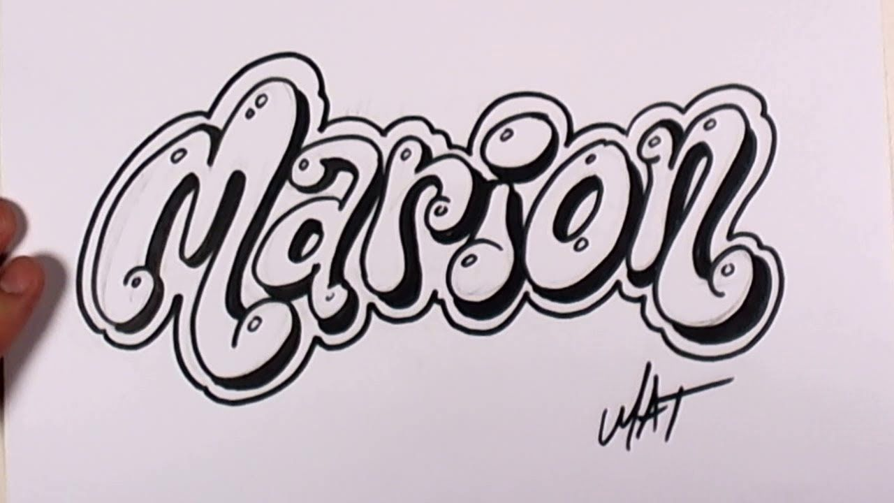 Graffiti Writing Marion Name Design 44 In 50 Names Promotion