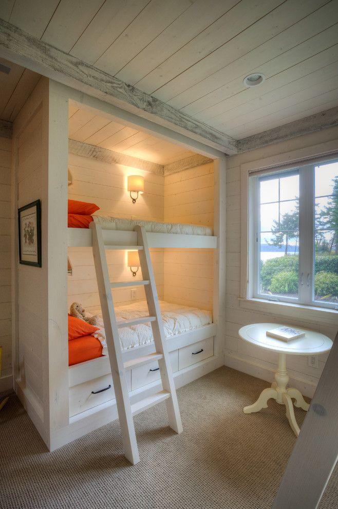 20 Stunning Farmhouse Kids Bedroom Design Ideas Bunk Beds Built