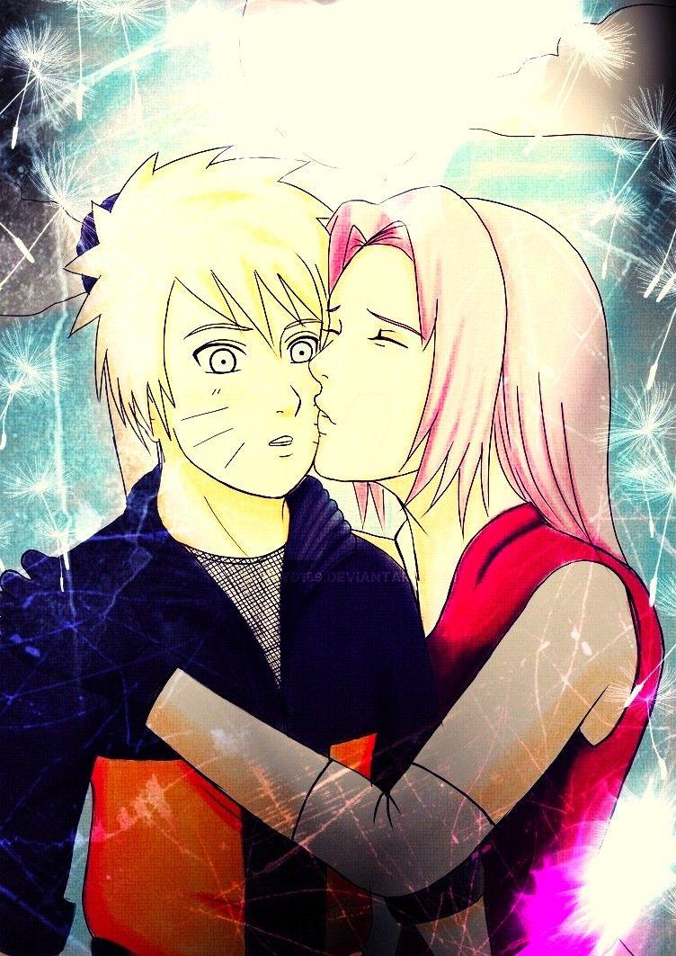 sakura kiss a cheek naruto narusaku shippuden narusaku shippuden