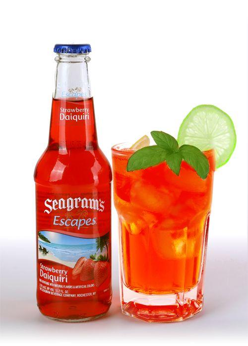 Strawberry Mojito Seagrams Escapes Strawberry Mojito Alcohol Drink Recipes Mojito Recipe