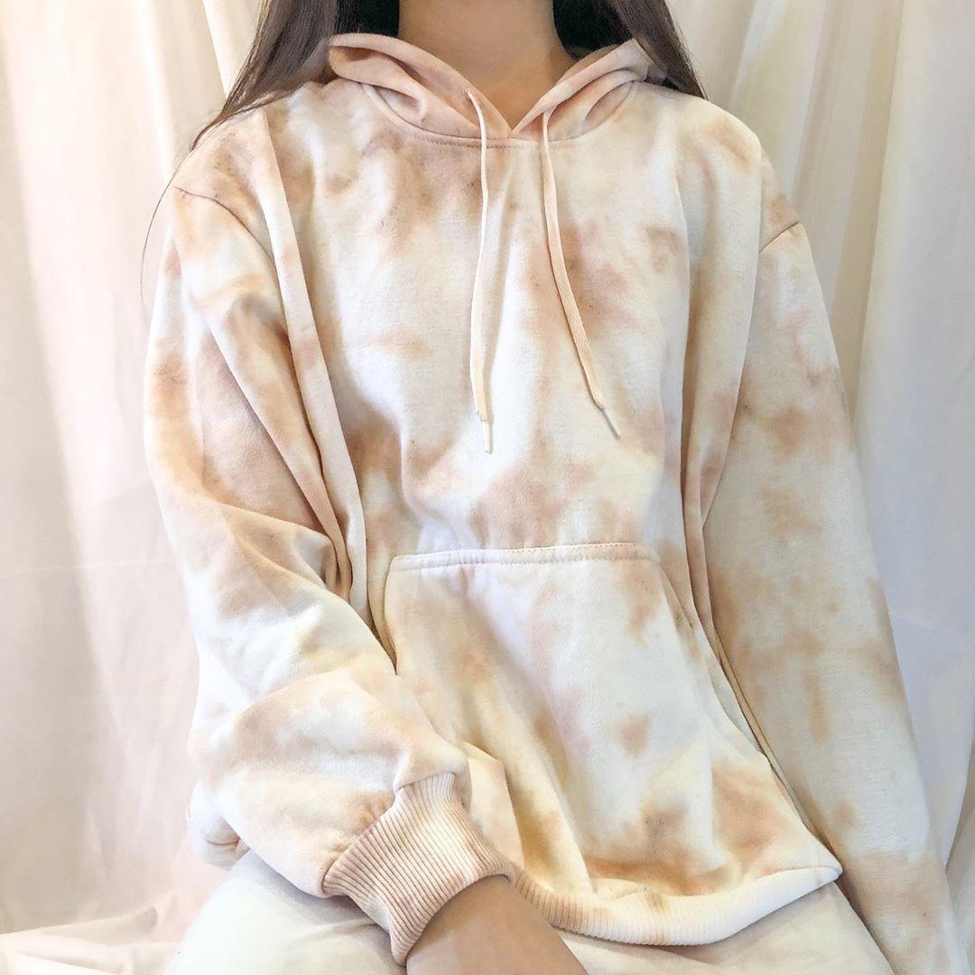 Casual Tie Dye Light Brown Sweatshirts Aromiya Casual Tie Tie Dye Print Retro Sweatshirts [ 1080 x 1080 Pixel ]