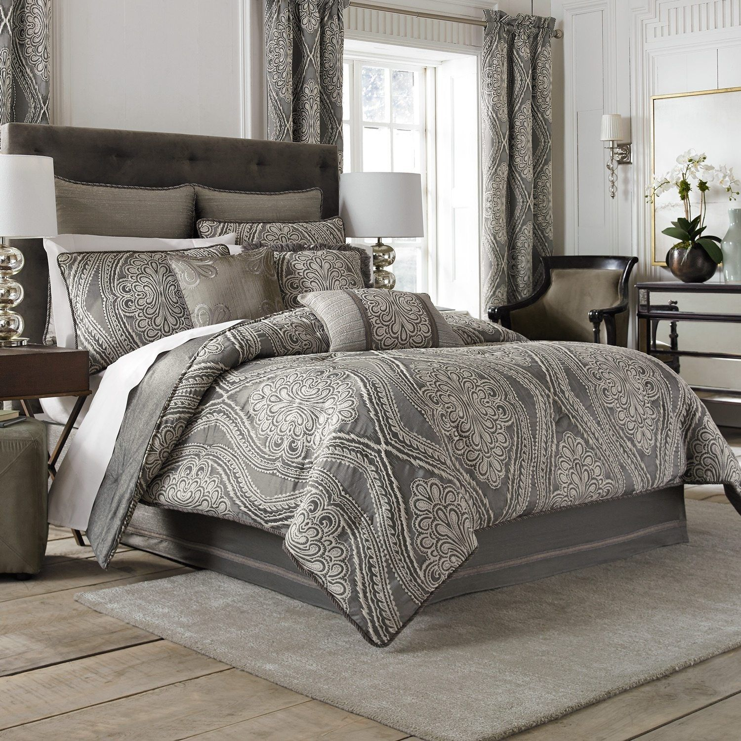 Bedroom Queen Bedding Sets With Grey Bedding Sets Queen With Brown
