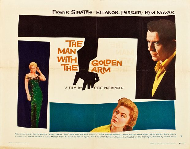 The Man with the Golden Arm US Half Sheet by rearwindowposters