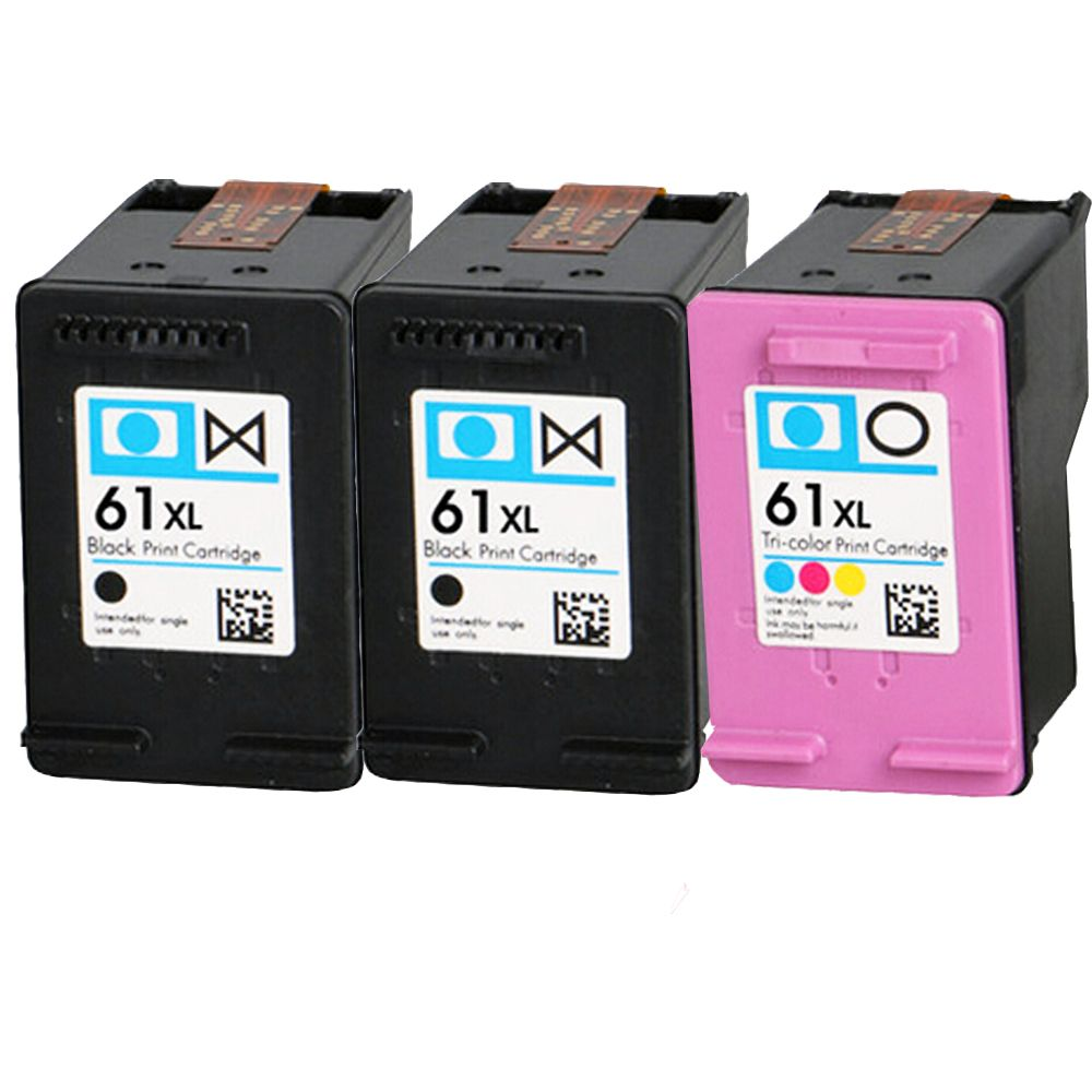 3PCS New Compatible HP 61 Black Color Combo Ink Cartridge CR259FN Deskjet  2050 2510 2540 2549 3000 3050 3050A 3515 3516