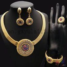 Free shippingitalian gold jewelry sets costume african jewelry