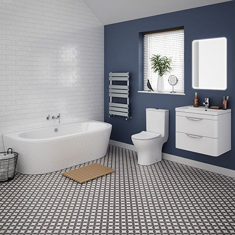 orion modern back to wall bathroom suite | victorian