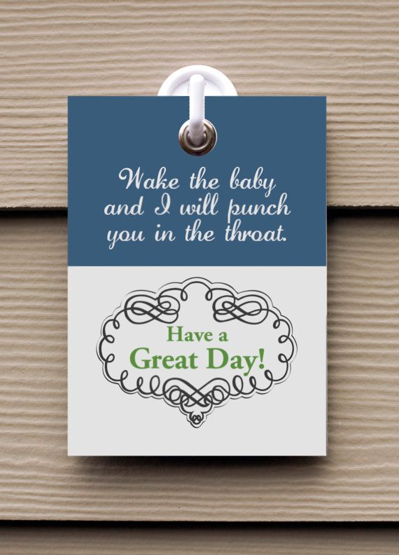 Humorous Punch Doorbell Cover in Blue & by NikkiDanielDesigns, $16.00