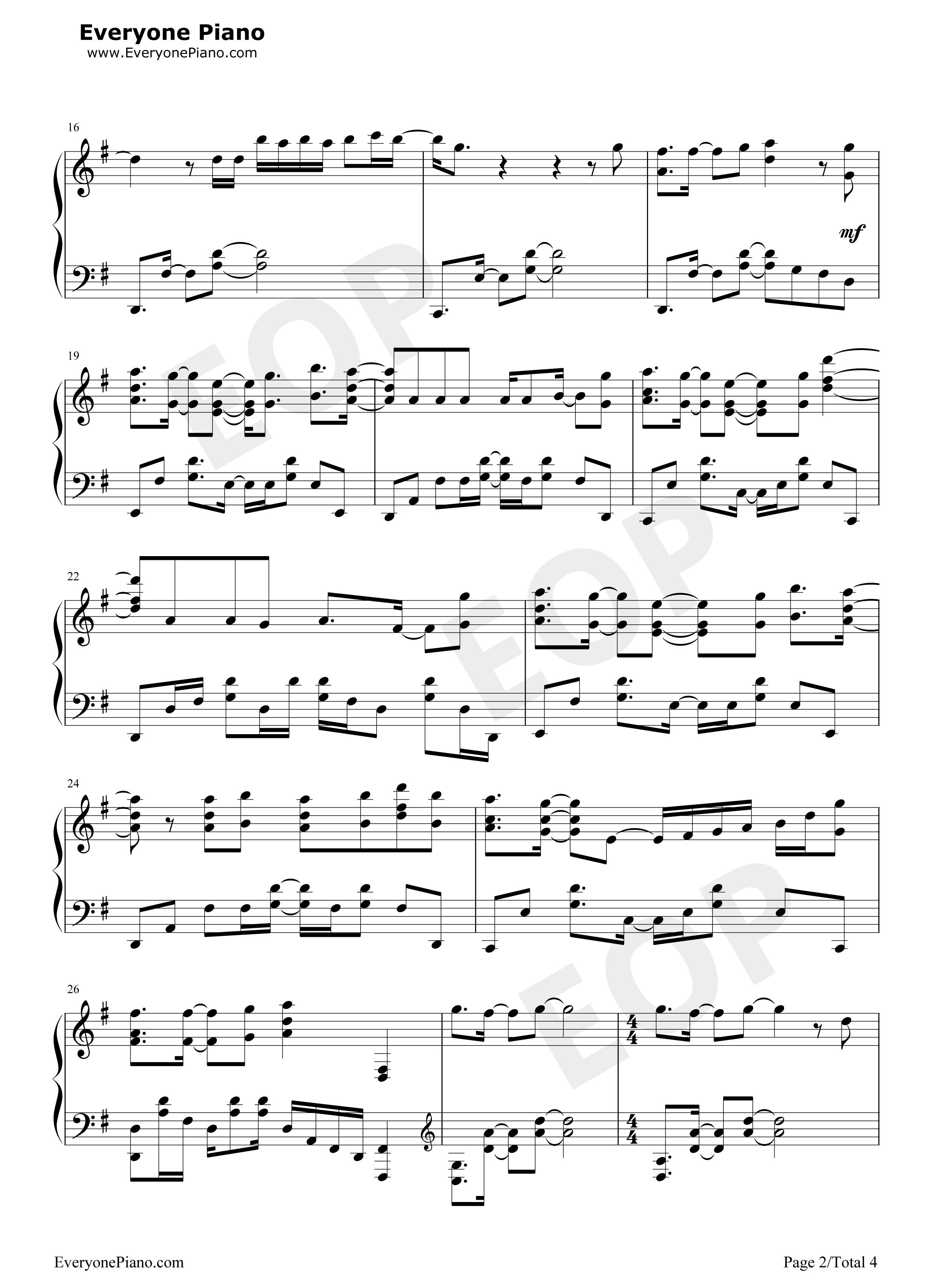 紅蓮華 鬼滅の刃op五線譜プレビュー 楽譜 五線譜 無料楽譜