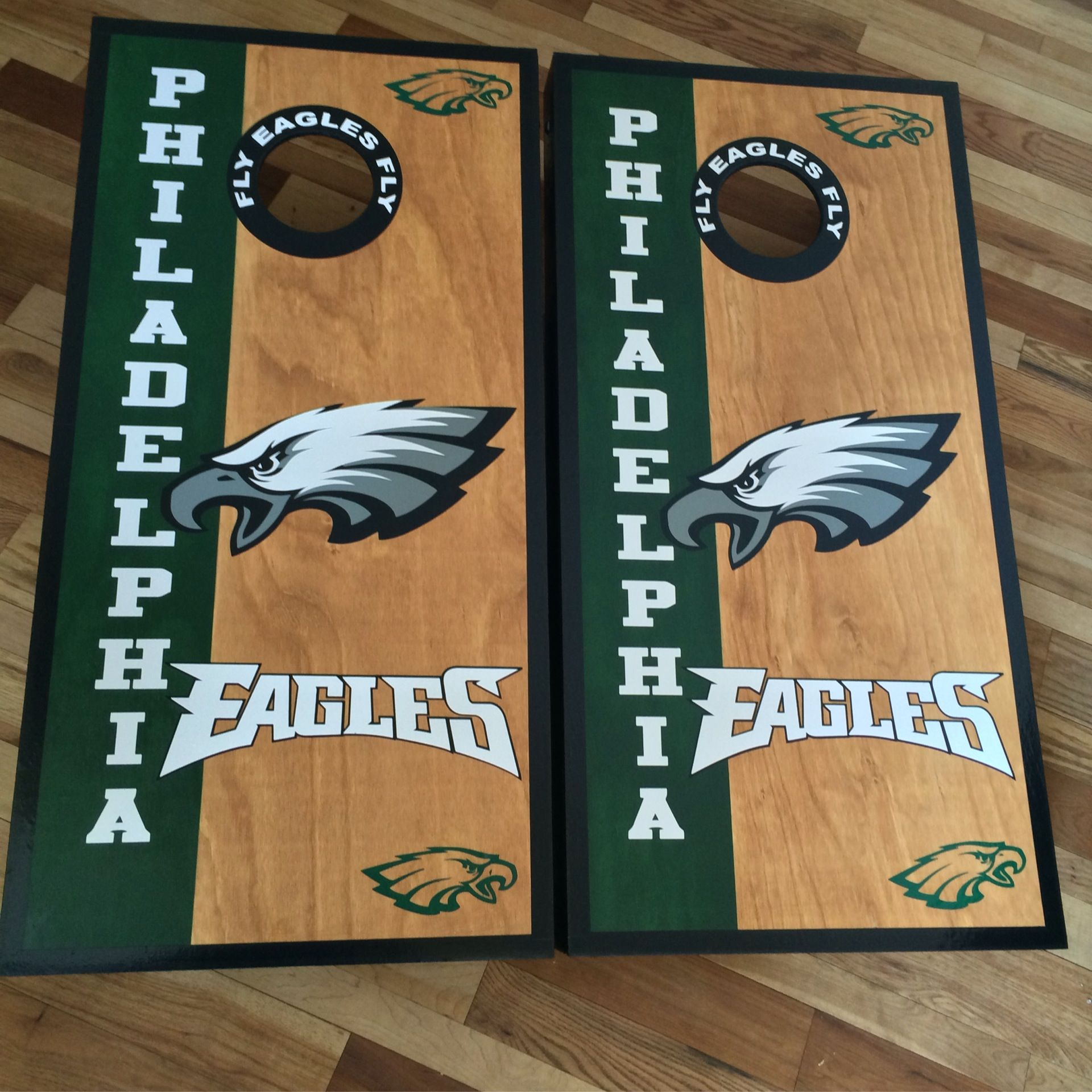Philadelphia Eagles custom made cornhole boards/baggo/corn hole ...