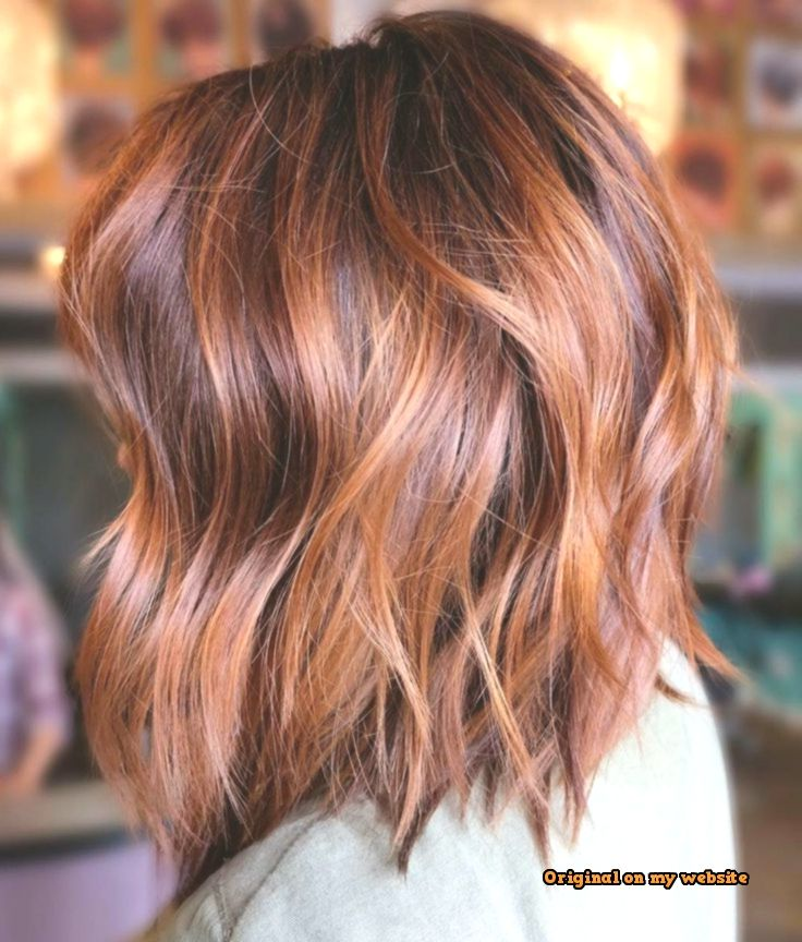 Trends Bob Frisuren -Burgundy And Copper Balayage Lob - Top Of The Pins #copperbalayage