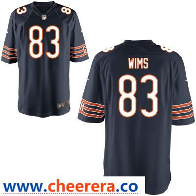 c0d98aefa7b Men's Chicago Bears #83 Javon Wims Navy Blue Team Color Stitched NFL Nike  Elite Jersey