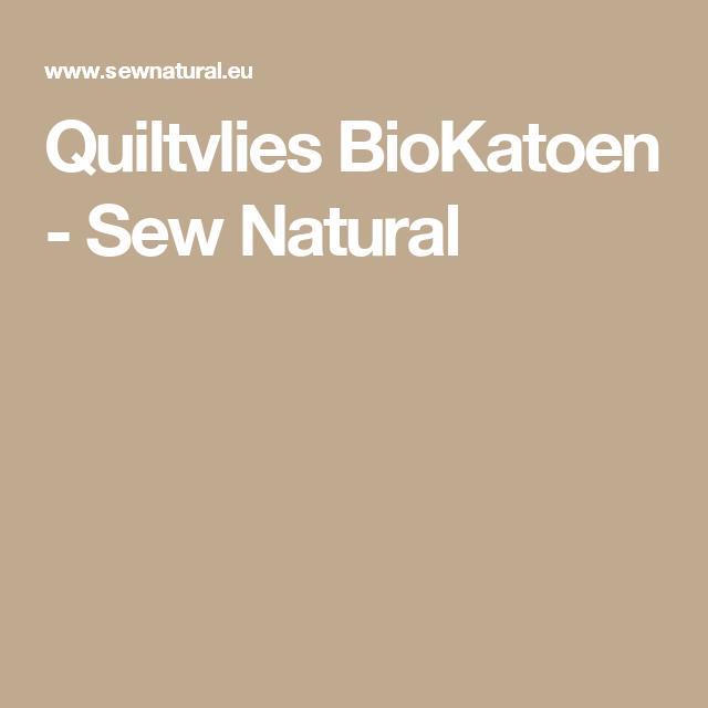 Quiltvlies BioKatoen - Sew Natural