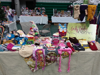 girlygirls crochet my craft fair display
