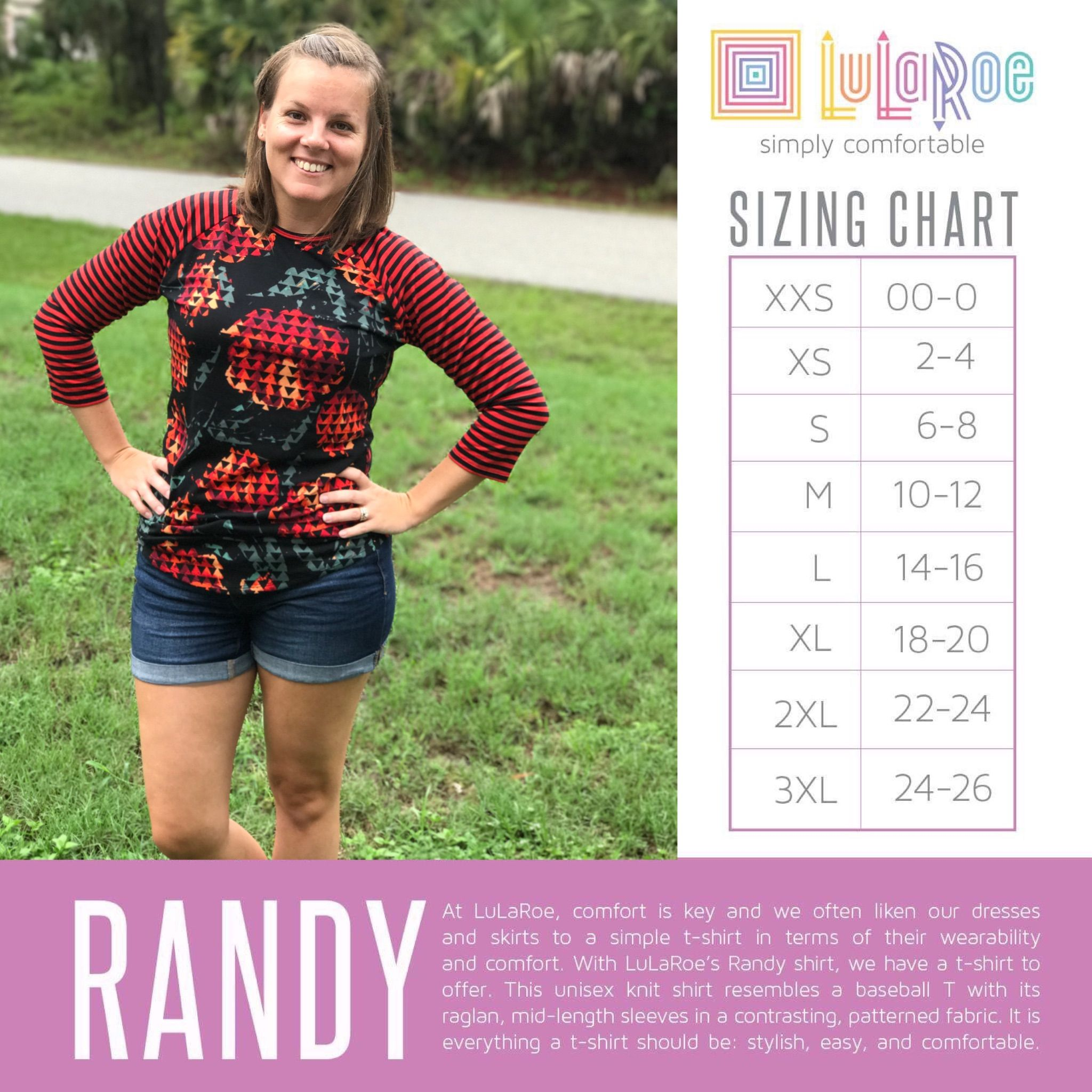 Lularoe Randy Lularoe Size Chart Randy Lularoe Sizing Lularoe Randy