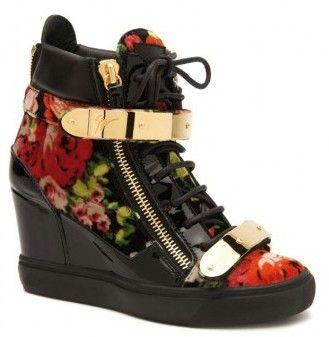 Giuseppe Zanotti scarpe sneakers con fiori autunno inverno 2014 2015 ... 1bd8dac0e44