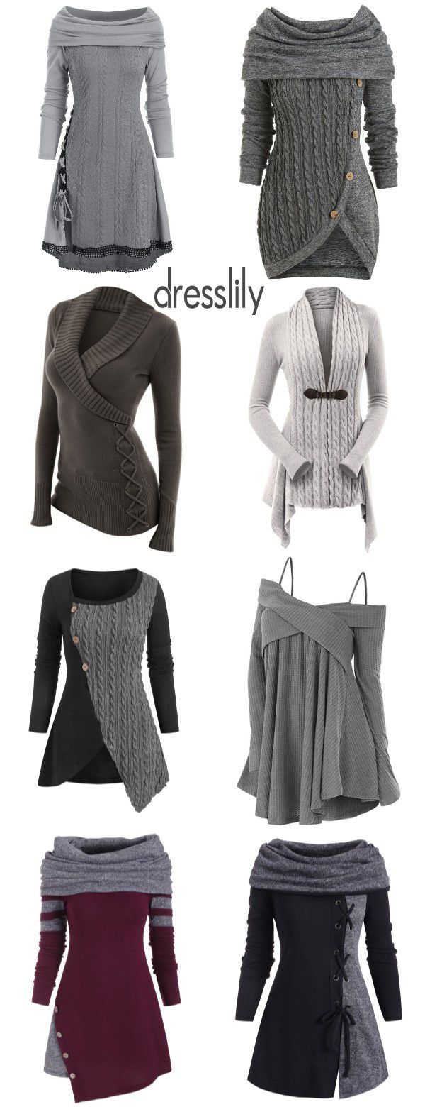 Womens fashion outfits | Outfits with sweatshirts | Womens sweater | Casual outfits for women #casualwinteroutfits Trendy Sweaters & Cardigans for Christmas and Sales! #dresslily #sweaters #cardigans #gray #outfits #forfall #cozy #winter #pullover #Christmas #Xmas #outfitswithhats