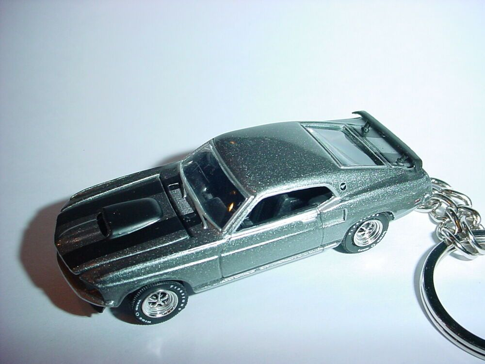 Details About 3d Silver 1969 Ford Mustang Boss 429 Custom Keychain