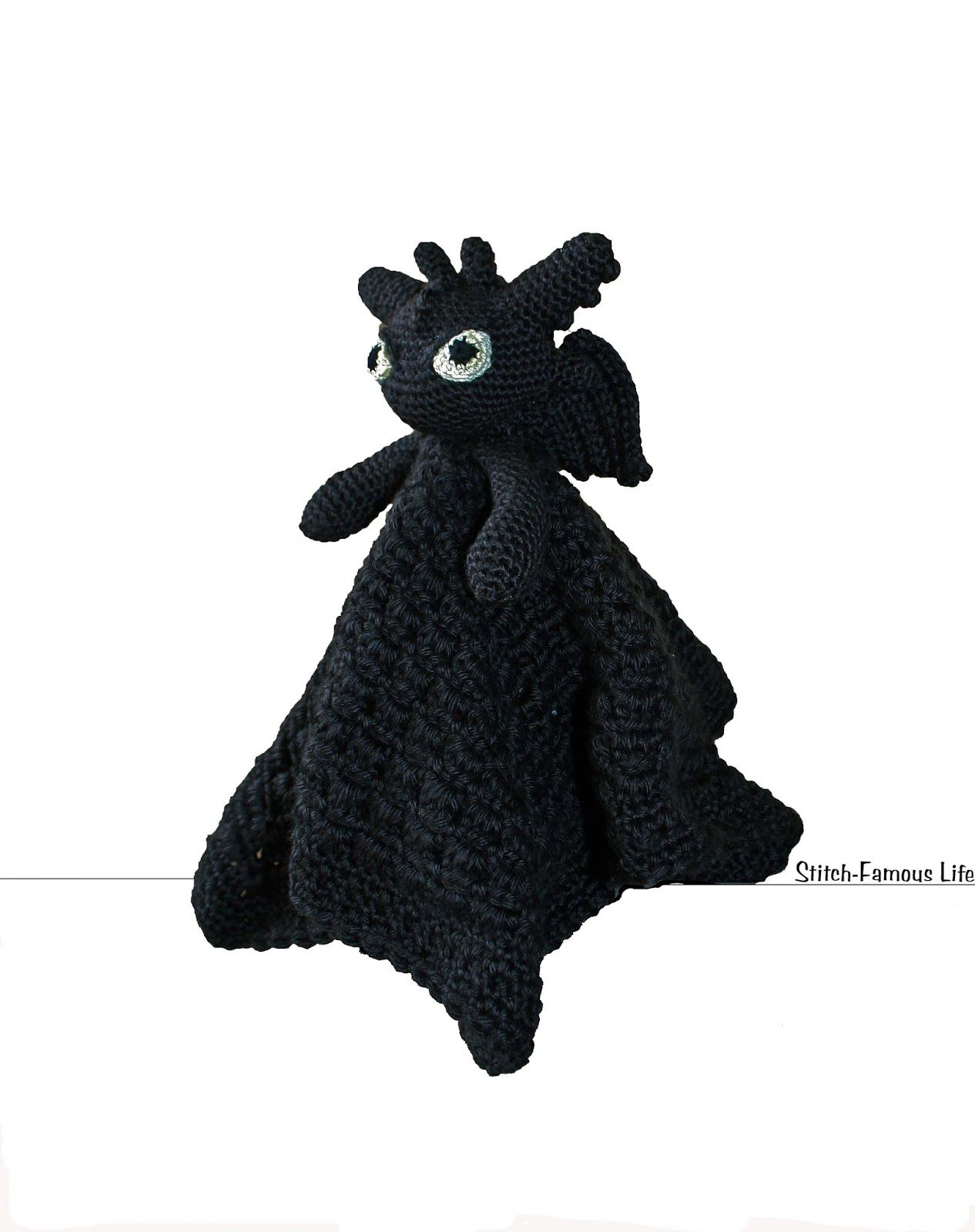Night Fury Dragon Lovey Blanket. Super cheap pattern at $1.50 | Cool ...