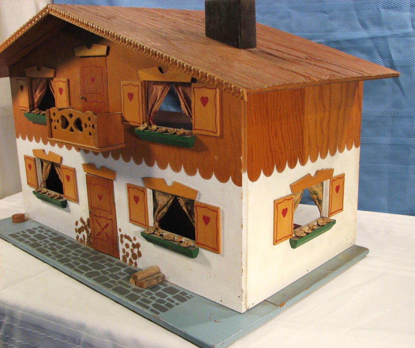 Vintage Dora Kuhn 1960 S Doll House With Furniture West Germany Fao