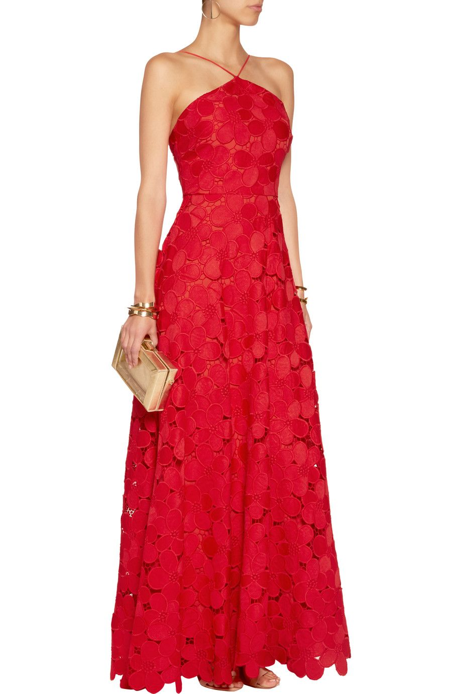 Floral-lace gown | Badgley Mischka | 50% off | THE OUTNET | Flic and ...
