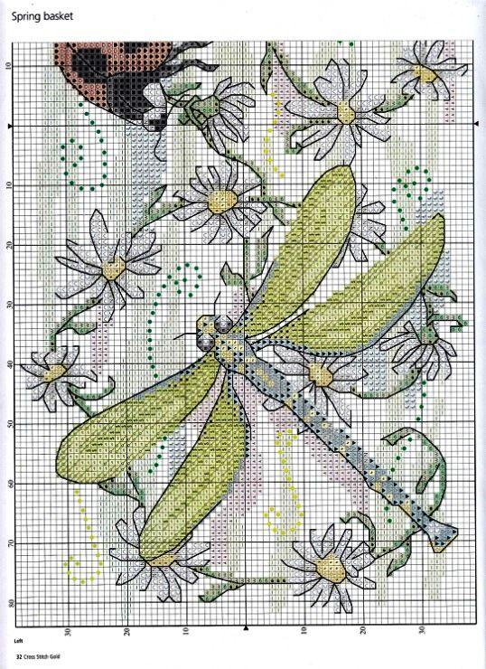 Pin de Barbara Zito en Cross Stitch Love | Pinterest | Libélulas ...