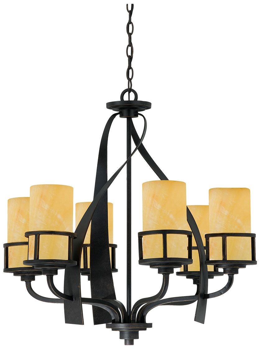 Kyle 6-Light Chandelier in Imperial Bronze | House of Antique Hardware