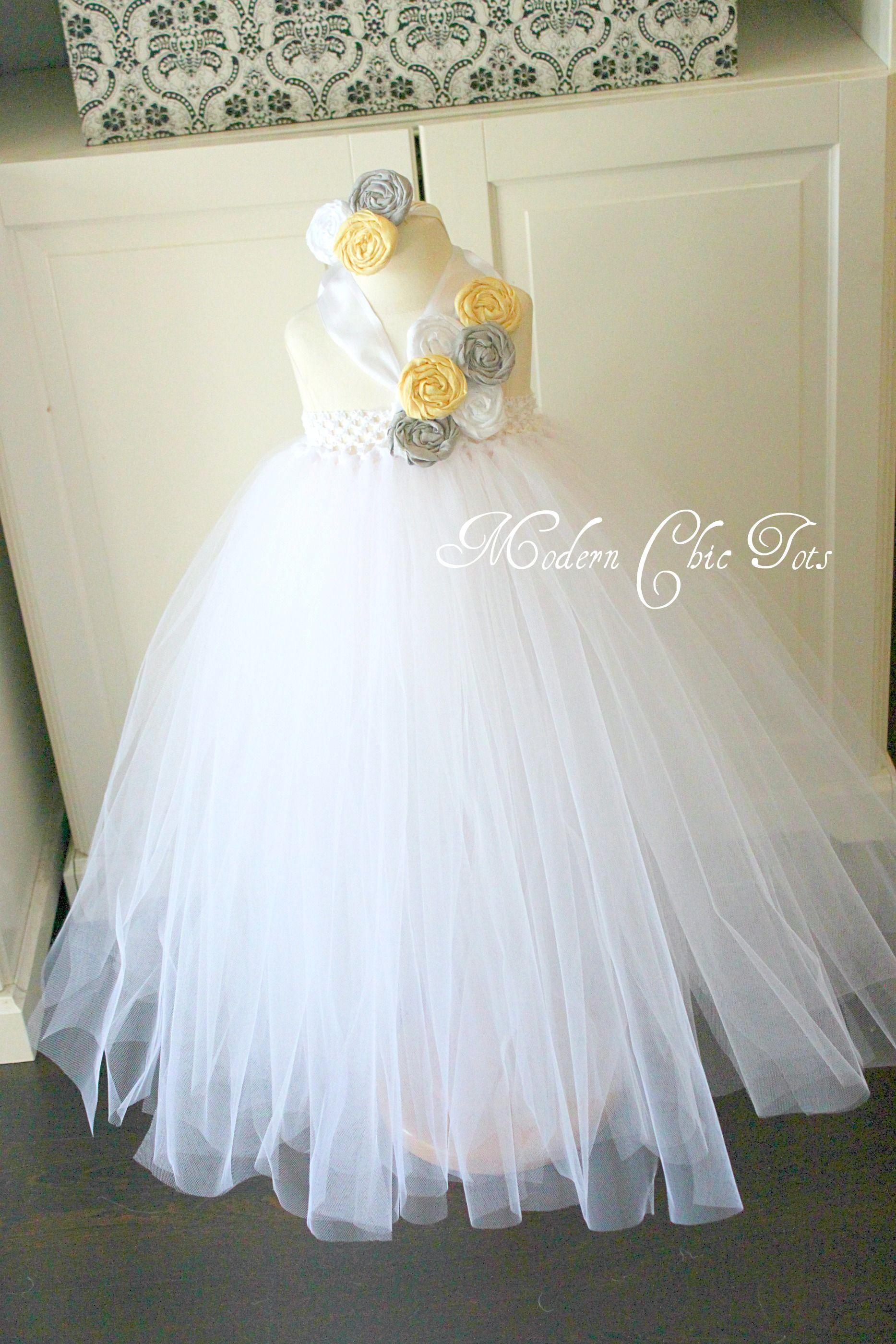 Flower girl dress white lemon and gray off the shoulder tutu flower girl dress white lemon and gray off the shoulder tutu ombrellifo Image collections